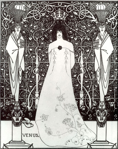 Aubrey Beardsley, Venus between Terminal Gods, Cecil Higgins Art Gallery, Bedford, United States, 1895