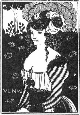 beardsley : Design for the proposed title page for Venus and Tannhauser, but first published in The Studio, in 1898