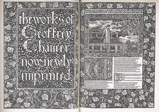 The Works of Geoffrey Chaucer, designed by Morris and illustrated by Burne-Jones