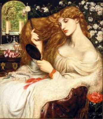Dante-Gabriel Rossetti : Lady lilith, Delaware art museum, 1866-68 (altered 1872-73)